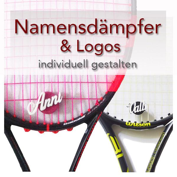 Dein Name auf deinem Dämpfer Tennis