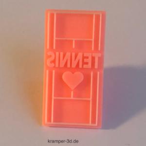 3D Tennis LOVE Stempel