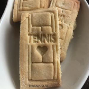 3D STEMPEL / Tennis Schriftzug & Herz